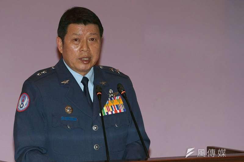 幻象2000失聯,空軍司令部8日上午召開記者會,由副司令張哲平中將出面說明搜救經過。(蘇仲泓攝)