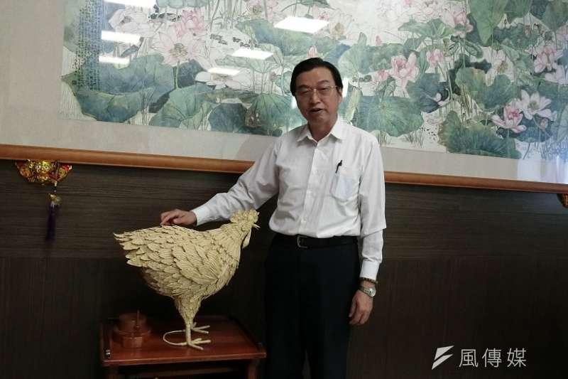 草屯鎮長洪國浩談未來縣政規畫想法。(圖/王秀禾攝)