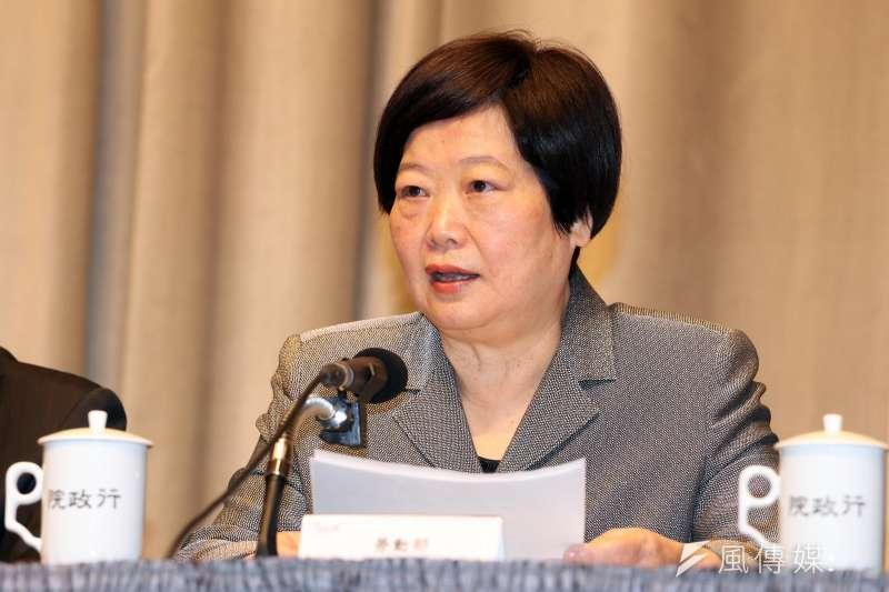 勞動部長林美珠今(9)日親口證實,自己已經罹患乳癌。(資料照,蘇仲泓攝)