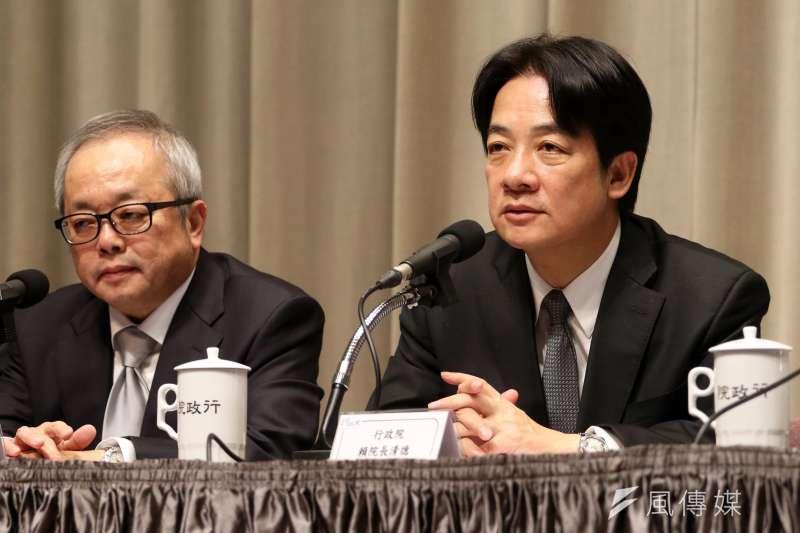 行政院長賴清德15日受訪時表示,獵雷艦案發生在2014年,「是哪一朝很清楚」。(資料照,蘇仲泓攝)