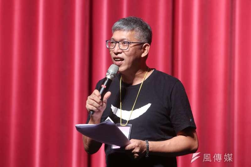 20171110-紙風車劇團「諸葛四郎」彩排,紙風車劇團團長任建華。(陳明仁攝)
