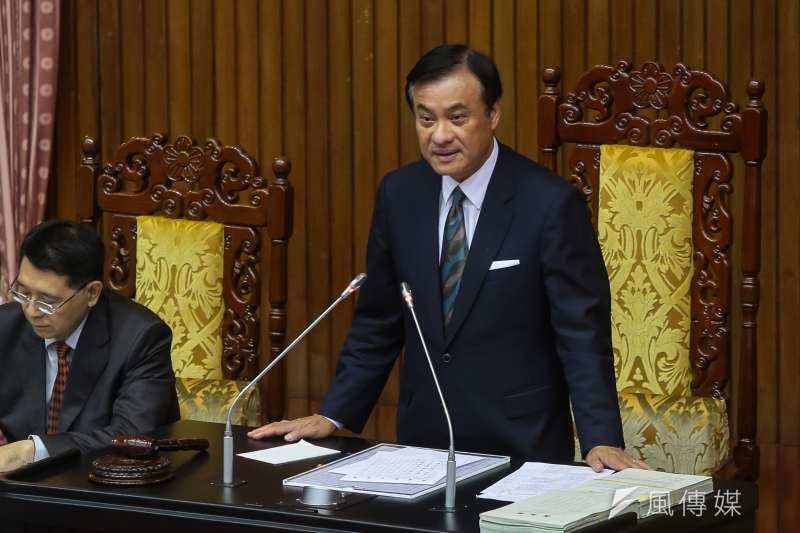 立法院長蘇嘉全表示,中國作為聯合國會員國,有義務遵守國際人權公約,展現大國氣度與自信,應讓李明哲儘速返台。(資料照,顏麟宇攝)