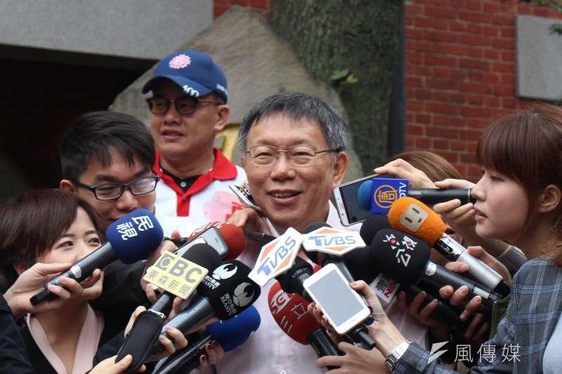 20171111-台北市長柯文哲。(方炳超攝)