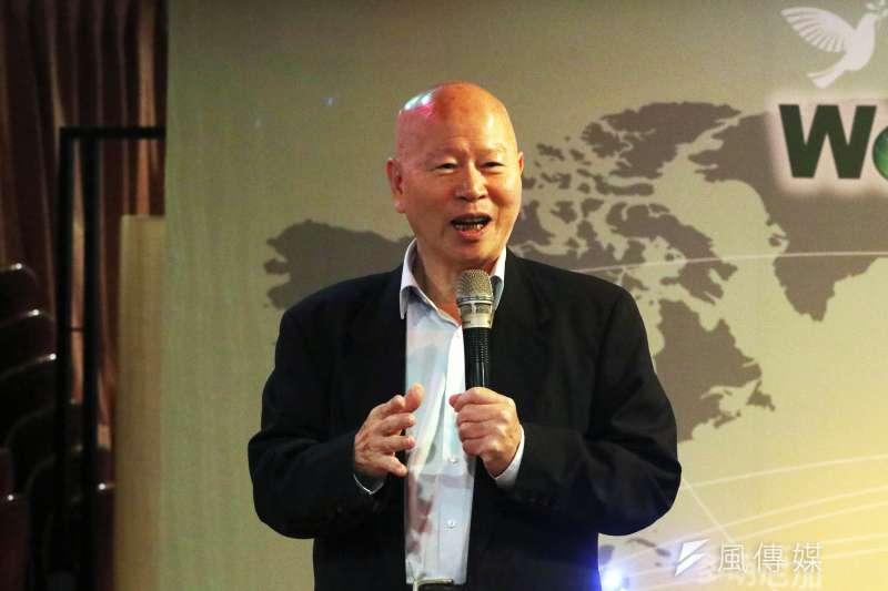 世界和平宣言暨《新大學》政論網站下午舉行成立酒會,前民進黨主席許信良出席致詞,並表示,台灣需要新的文藝復興運動,創造能主導世界的新文明。(蘇仲泓攝)