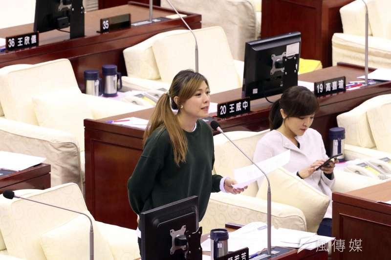 20171113-台北市議會下午進行市政總質詢,圖為民進黨議員顏若芳。(蘇仲泓攝)
