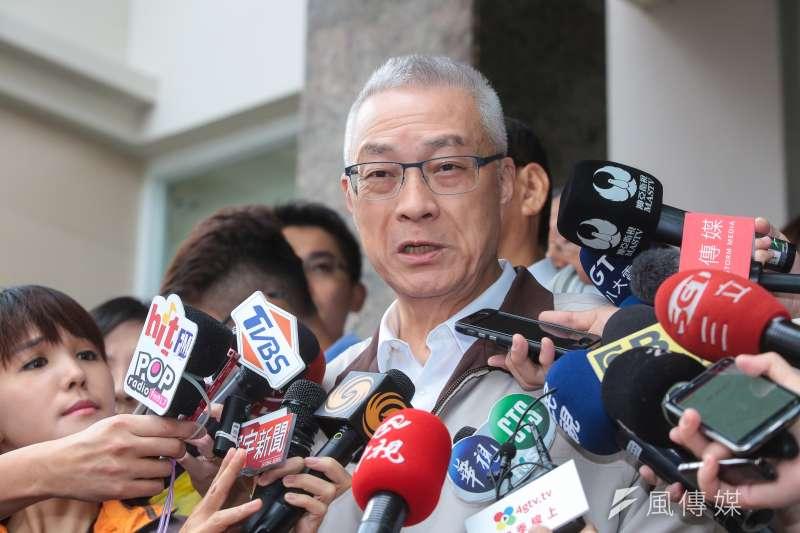 國民黨主席吳敦義申請泰國簽證卻遭刁難,出訪行程將從原本7天縮短為5天。(資料照,顏麟宇攝)