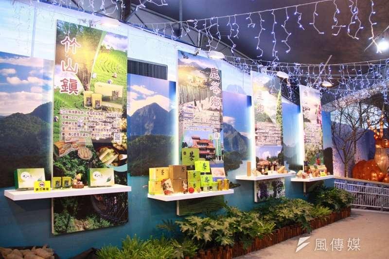 中台灣農業博覽會南投館展出低、中、高海拔農特產。(圖/王秀禾攝)