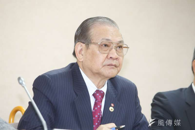 中華民國全國工業總會常務理事何語出席立法院,「一例一休  先道歉再重修」記者會。(陳明仁攝)