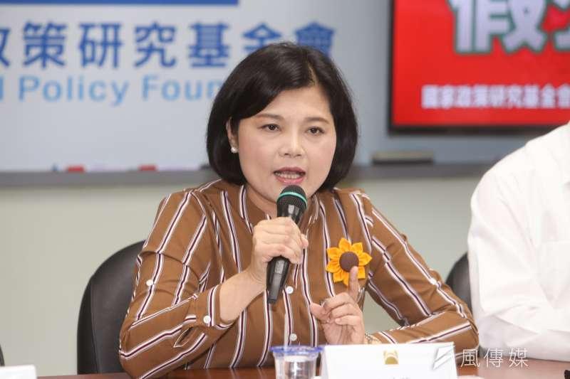 立法委員張麗善,出席「農田水利會改制  假公滅私」記者會。(陳明仁攝)