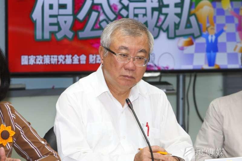 前農委會主委陳保基,出席「農田水利會改制  假公滅私」記者會。(陳明仁攝)