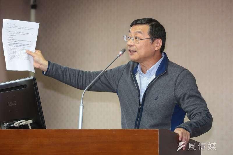 20171115-國民黨立委曾銘宗15日於立院內政委員會質詢。(顏麟宇攝)