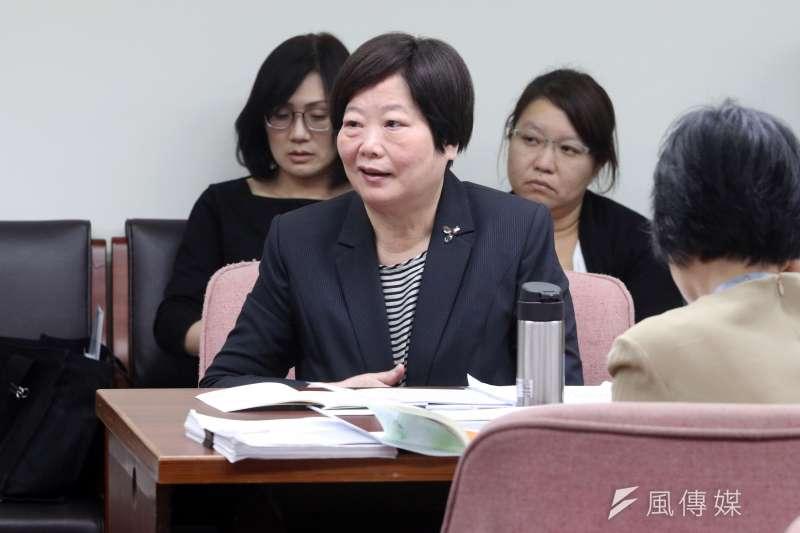 20171115-立法院衛環委員會,勞動部長林美珠。(蘇仲泓攝)