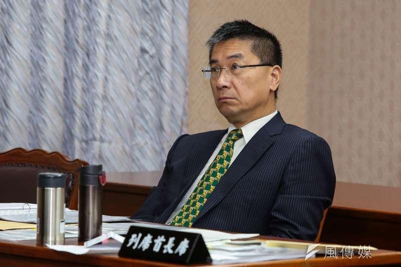 20171116-行政院發言人徐國勇16日出席立院內政委員會。(顏麟宇攝)