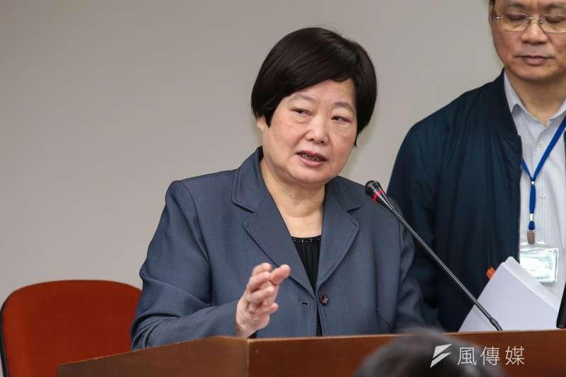 20171116-勞動部長林美珠16日於立院衛環委員會備詢。(顏麟宇攝)