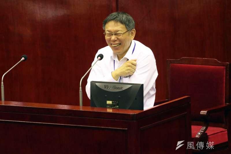 台北市長柯文哲夠強悍,連民進黨都打不趴他。(蘇仲泓攝)