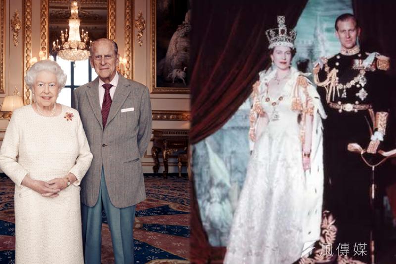 英國女王與菲利普親王結婚70周年。(圖/風傳媒後製)
