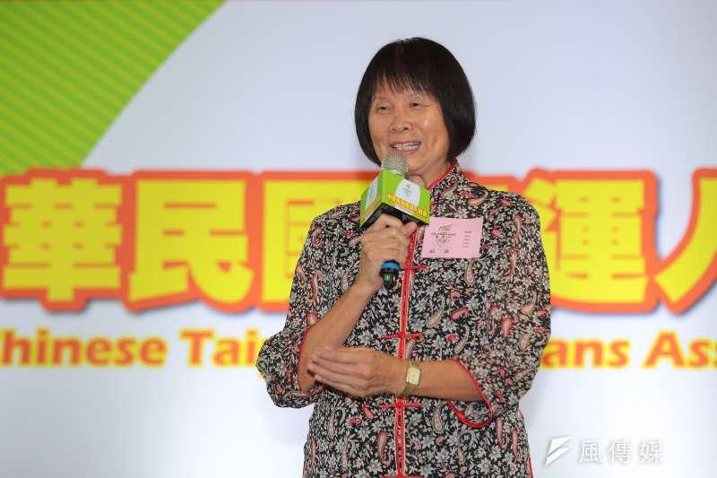 希望基金會董事長紀政21日出席「中華民國奧運人協會」成立記者會,並表示不反對單項協會理事長直選。(顏麟宇攝)