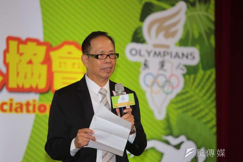 20171121-奧運人協會理事長翁明義21日出席「中華民國奧運人協會」成立記者會。(顏麟宇攝)