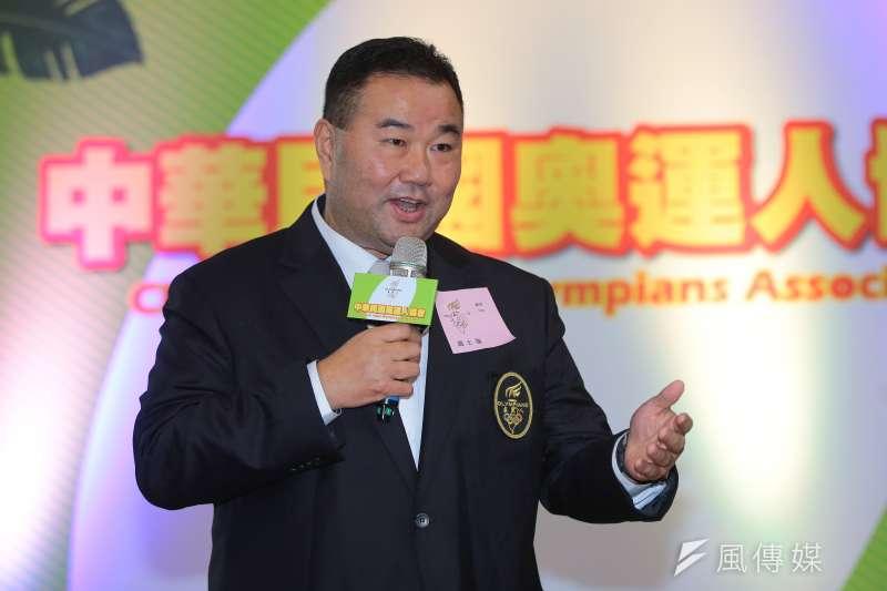 20171121-前奧運棒球國手趙士強21日出席「中華民國奧運人協會」成立記者會。(顏麟宇攝)