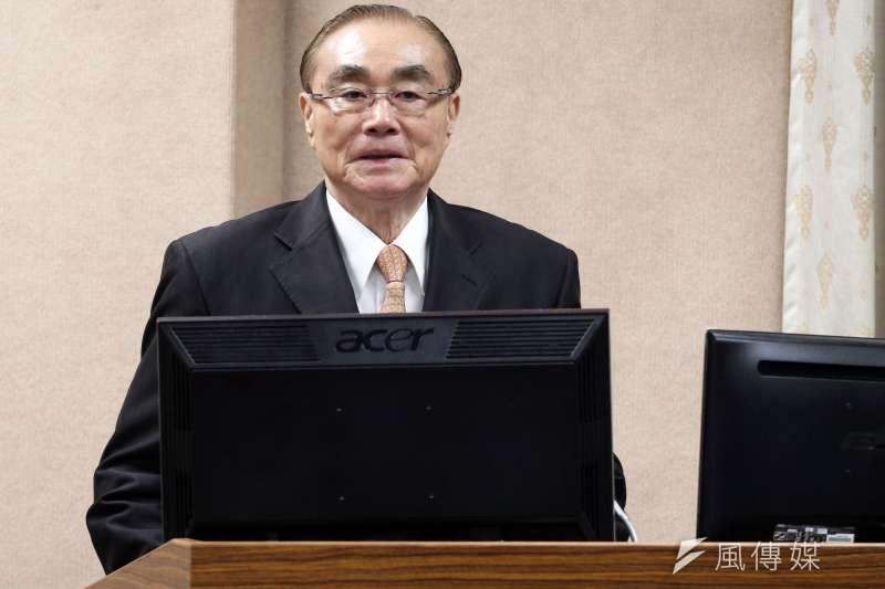 國防部長馮世寬對於獵雷艦案報告上的疏失,表示願意為此道歉。(資料照,蘇仲泓攝)