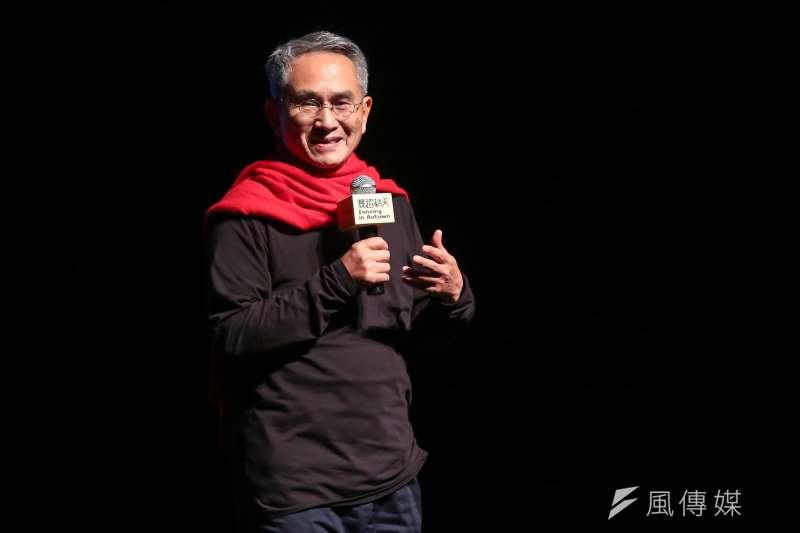 雲門舞集創辦人林懷民23日出席「關於島嶼」彩排記者會,他表示,希望台灣更美麗,我希望雲門能在讓台灣更美麗的方向上,貢獻正面的能量。(顏麟宇攝)