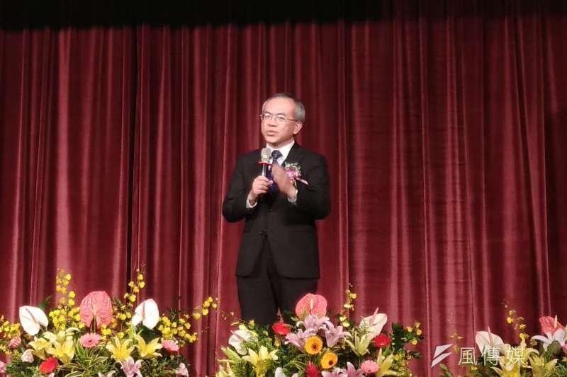 公路總局局長陳彥伯23日於第32屆中日工程技術研討會閉幕典禮致詞。(圖/葉滕騏攝)