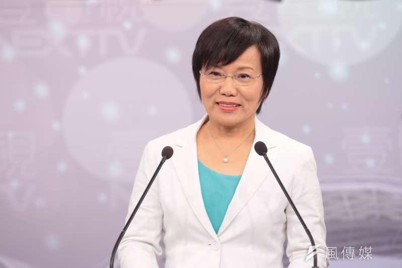 20171125-民進黨立委劉世芳25日出席參與「港都風雲‧高雄市長爭霸戰」電視辯論會。(顏麟宇攝)