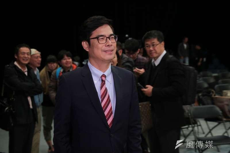 陳其邁19日晚間發表聲明,指他10多年來,選擇都是退一步成全同志。(資料照,顏麟宇攝)