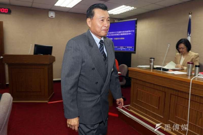 國家安全局長彭勝竹3月19日在立法院針對中國在台培養買辦團體的「買辦」,脫口而出說「譬如說陸配」,引發不滿。(資料照,蘇仲泓攝)
