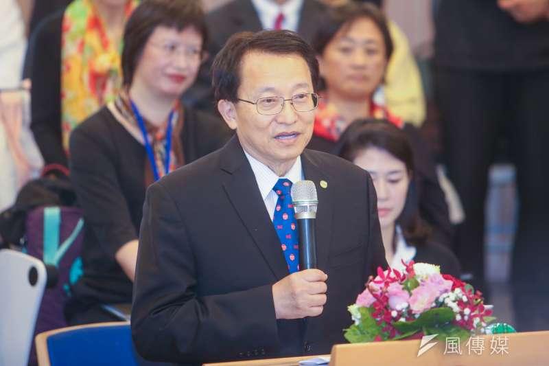 交大校長張懋中,出席台灣大學「次震宇宙館」完工典禮。(陳明仁攝)