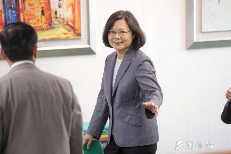 20171129-總統蔡英文29日出席民進黨中執會。(顏麟宇攝)