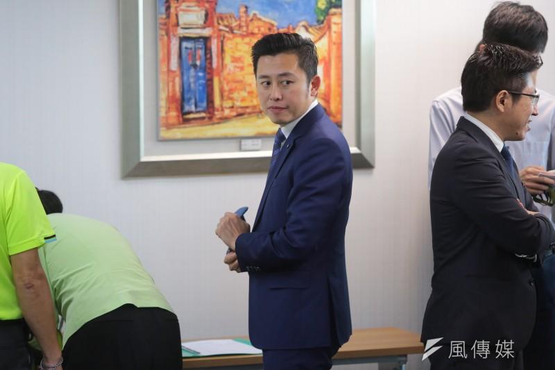 20171129-新竹市長林智堅29日出席民進黨中執會。(顏麟宇攝)