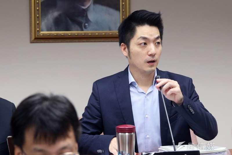 國民黨立委蔣萬安宣布不參選台北市長,將留在立院監督民進黨。(資料照片,蘇仲泓攝)