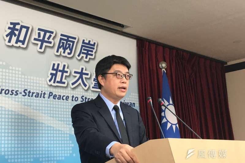 陸委會副主委邱垂正表示,兩岸司法互助確實遭到部分推遲,情資交換及相關通報則沒有停擺。(王彥喬攝)