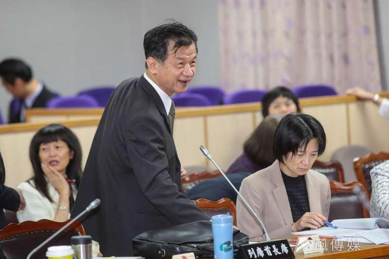 20171130-法務部長邱太三30日出席立院司法法制委員會審查法案。(顏麟宇攝)