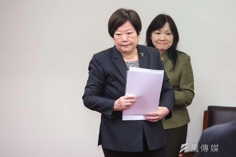 20171130-勞動部長林美珠30日出席立院衛環委員會公聽會。(顏麟宇攝)