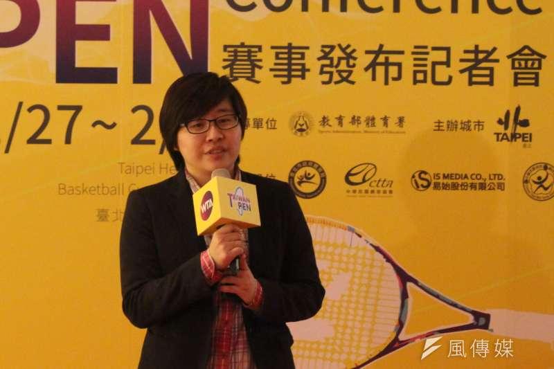 執行長楊蕙如表示,2018年場館移師到和平籃球館,她認為是最好的場館。(方炳超攝)