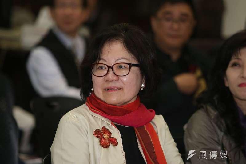 公視董事長陳郁秀端出七大罪狀,將總經理郭建宏以「不適任」為由解職。(陳明仁攝)