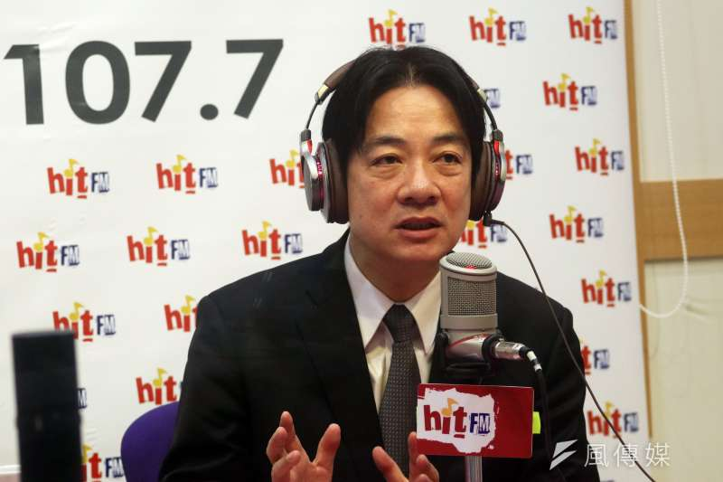 行政院長賴清德4日上午接受電台專訪,談推動《勞基法》修法。(蘇仲泓攝)