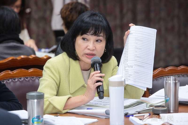 20171207-國民黨立委柯志恩7日出席立院委員會審查體育署預算。(顏麟宇攝)