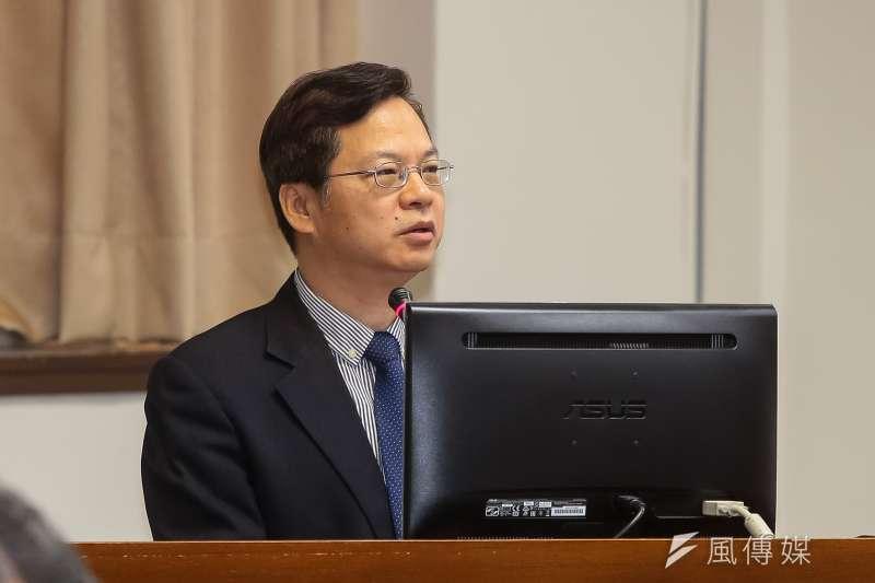 20171207-經濟部次長龔明鑫7日於經濟委員會備詢。(顏麟宇攝)