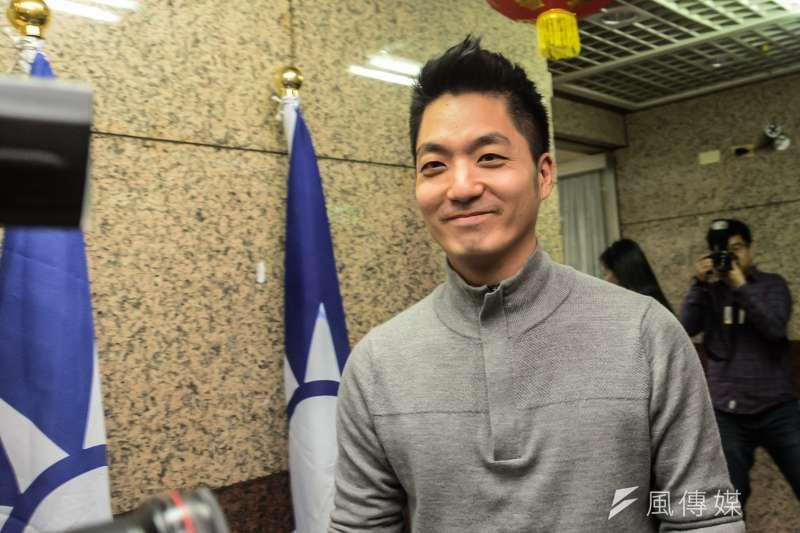 民進黨秘書長洪耀福11日表示,國民黨立委蔣萬安將代表藍營出征北市,「蔣萬安也是吳敦義的最愛」。圖為蔣萬安。(資料照,甘岱民攝)