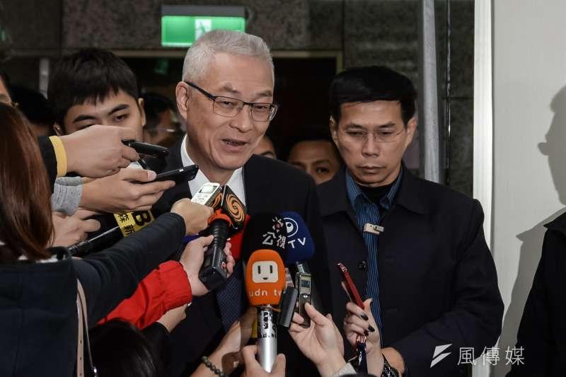 國民黨主席吳敦義將參加台中場反空污大遊行。(資料照片,甘岱民攝)