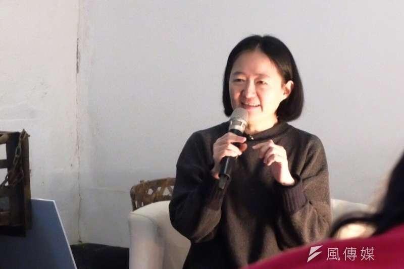 鷺江國小教師翁麗淑。(謝孟穎攝)