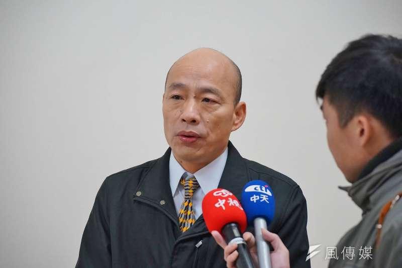 國民黨高雄市黨部主委韓國瑜今日突然到北市黨部領表,最後又撤銷。(資料照片,盧逸峰攝)