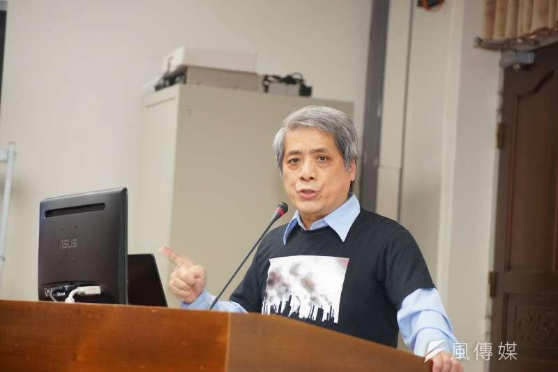 20171212-促成空汙法修法的遊行召集人成執政黨黑名單記者會,葉光芃發言。(盧逸峰攝)