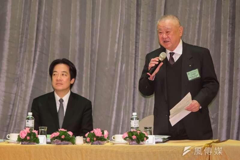 工商協進會理事長林伯豐(右)表示,政府無法確保供電穩定時,應該考慮重啟核電。(顏麟宇攝)