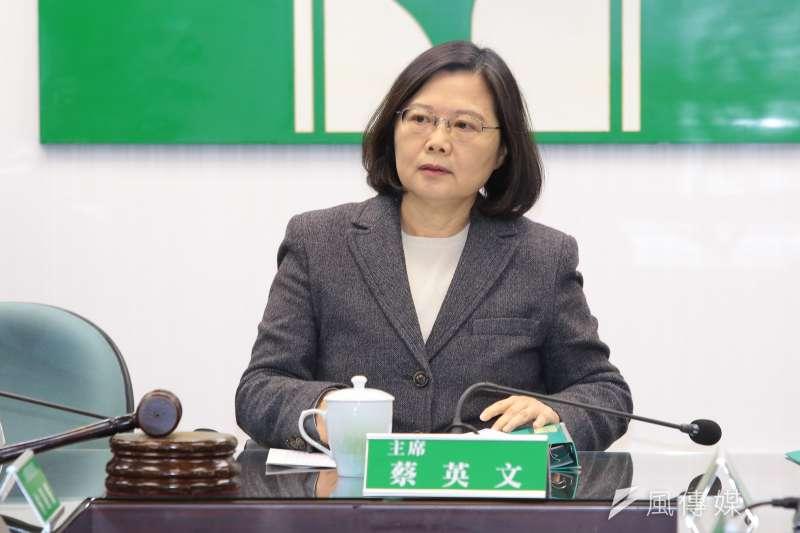 20171213-總統蔡英文13日出席民進黨中常會。(顏麟宇攝)