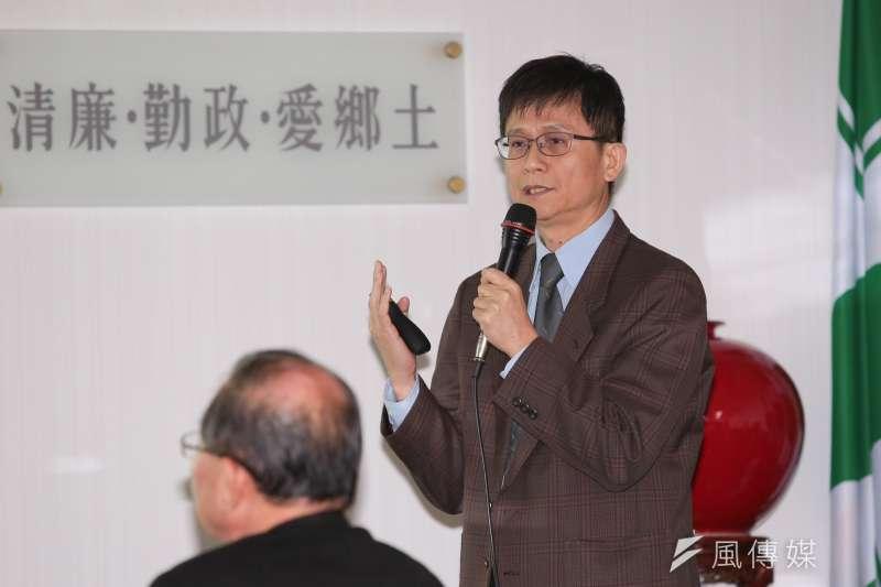 環保署副署長詹順貴出席民進黨中常會,針對空汙議題做專案報告。結果民進黨的結論是中國要為此負責。(顏麟宇攝)