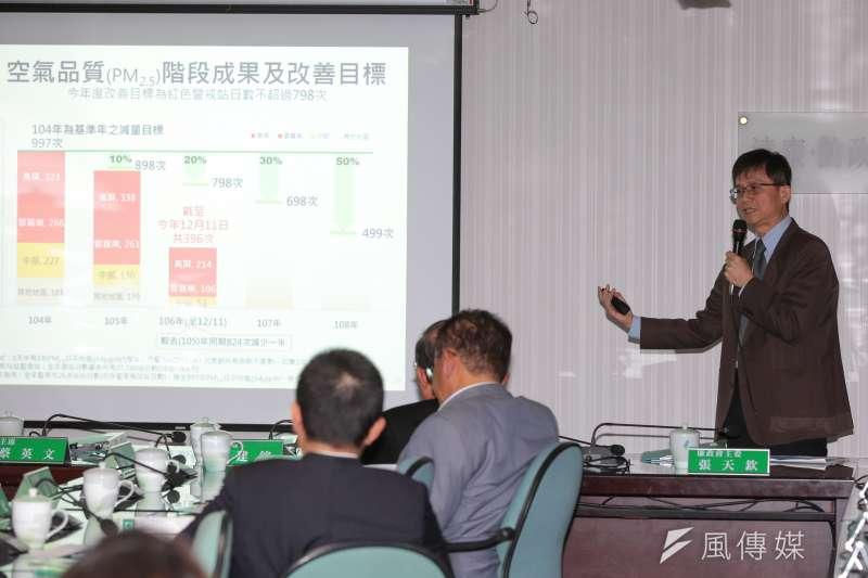 20171213-環保署副署長詹順貴13日出席民進黨中常會,針對空汙議題做專案報告。(顏麟宇攝)